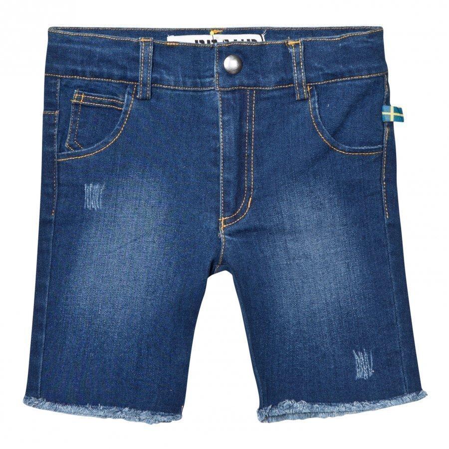 The Brand Raw Shorts Stonewashed Blue Farkkushortsit