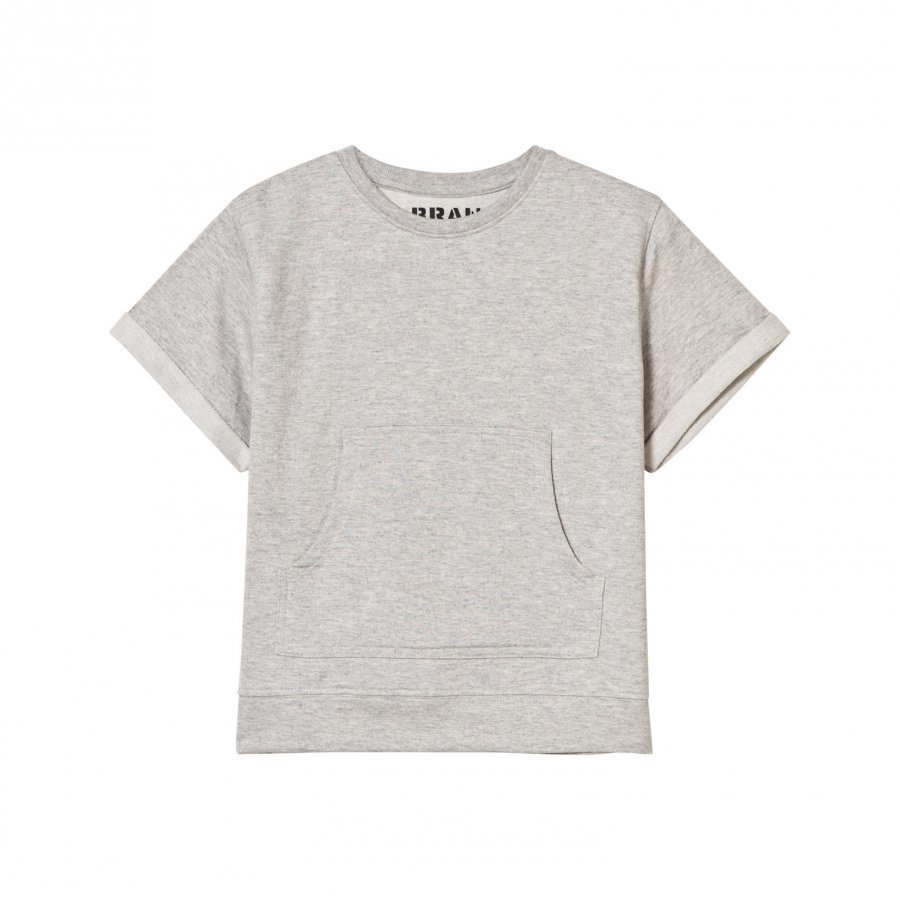 The Brand Raw Tee Grey Melange T-Paita