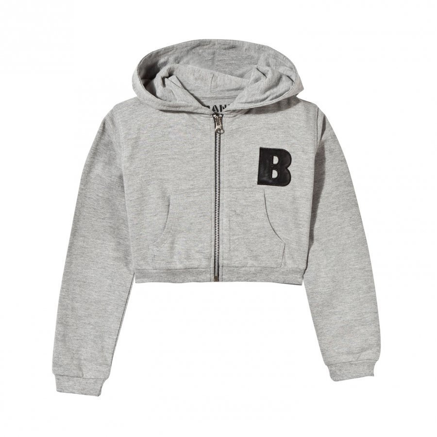 The Brand Short Hoodie Grey Huppari
