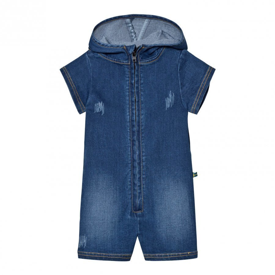 The Brand Short Jogger Stonewashed Blue Romper Puku