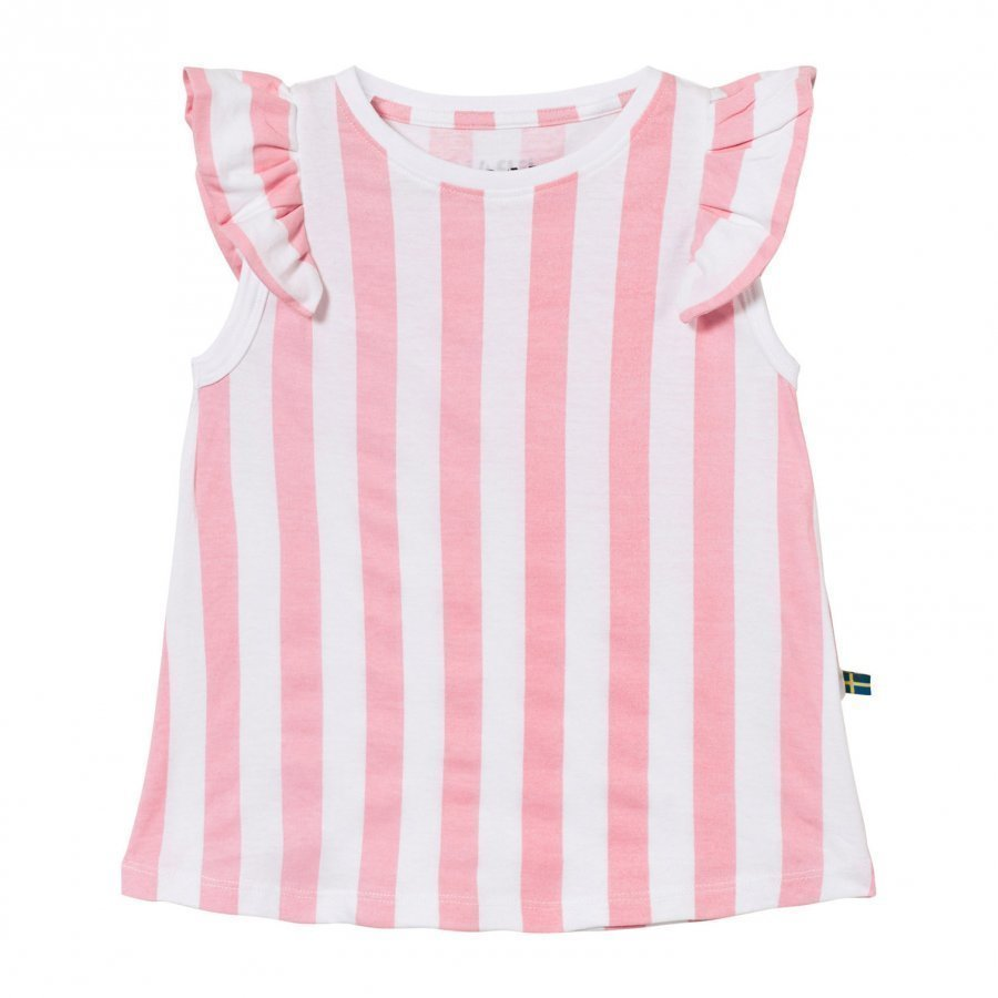 The Brand Suede Top Pink Stripe Pusero