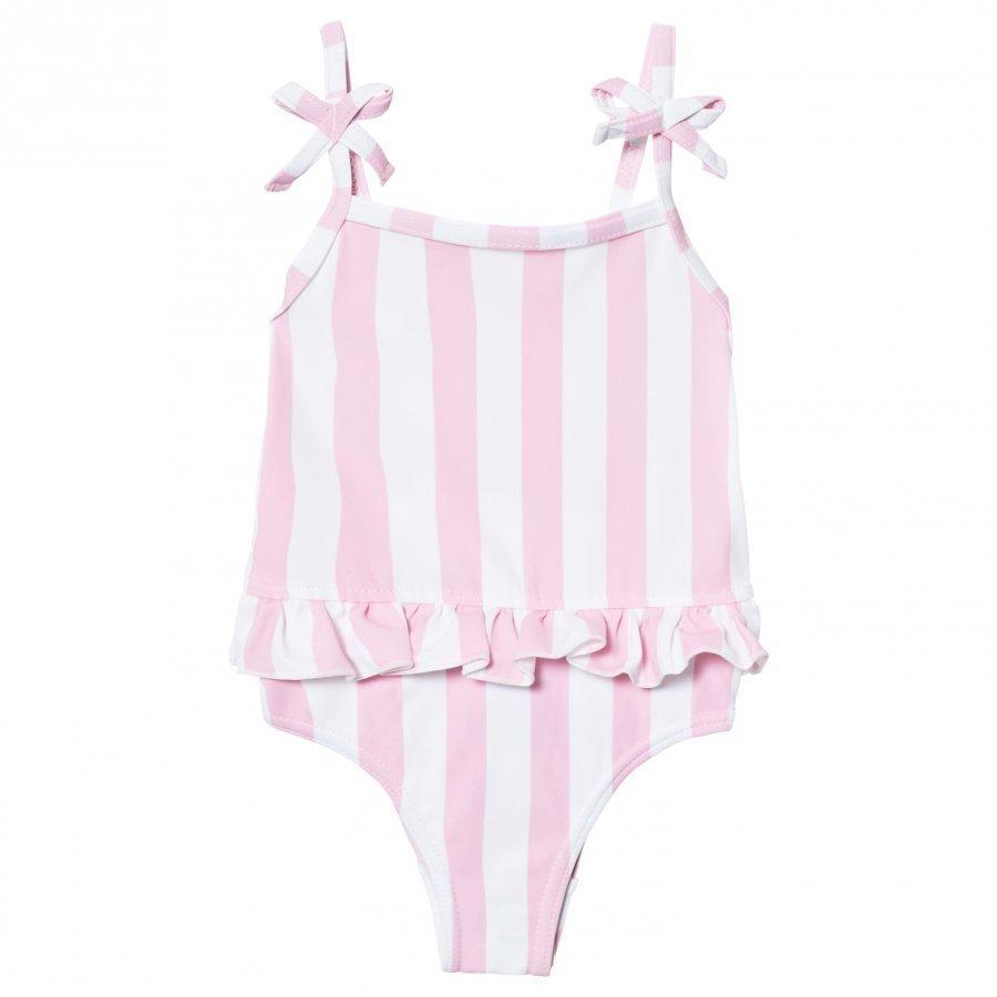 The Brand Swim Suit Pink Stripe Uimapuku