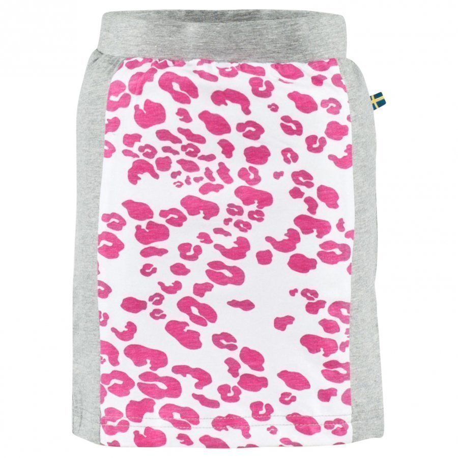 The Brand Tube Skirt Grey Mel/Leo Pink Midihame