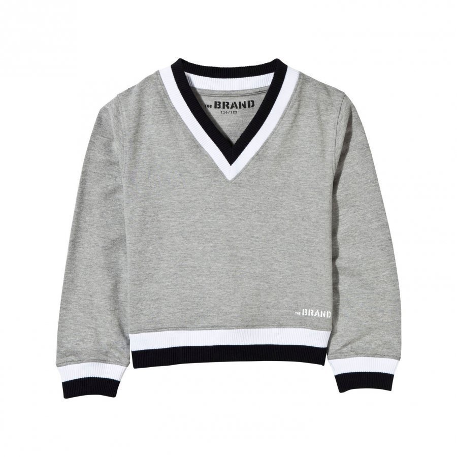 The Brand V-Neck College Sweater Grey Oloasun Paita