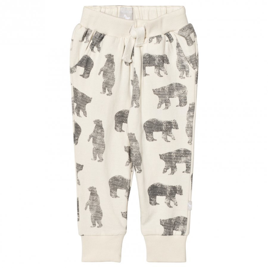 The Little Tailor Cream Bear Baby Boys Comfy Pant Harem Housut