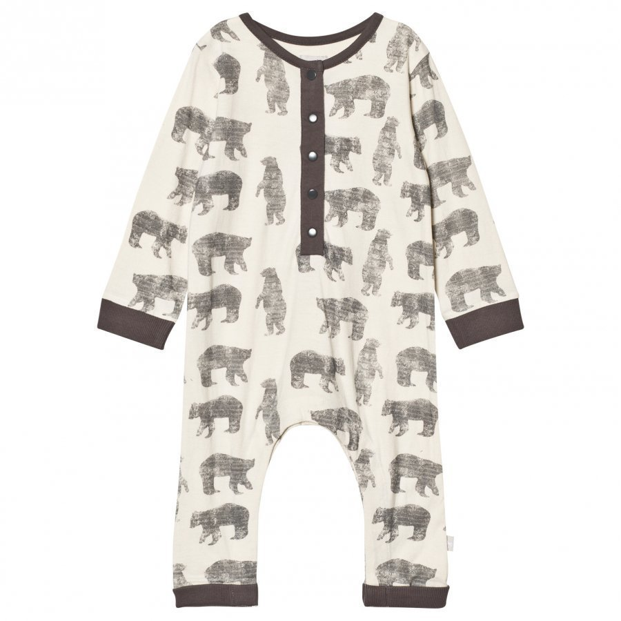 The Little Tailor Cream Bear Baby Boys Comfy Playsuit Potkupuku