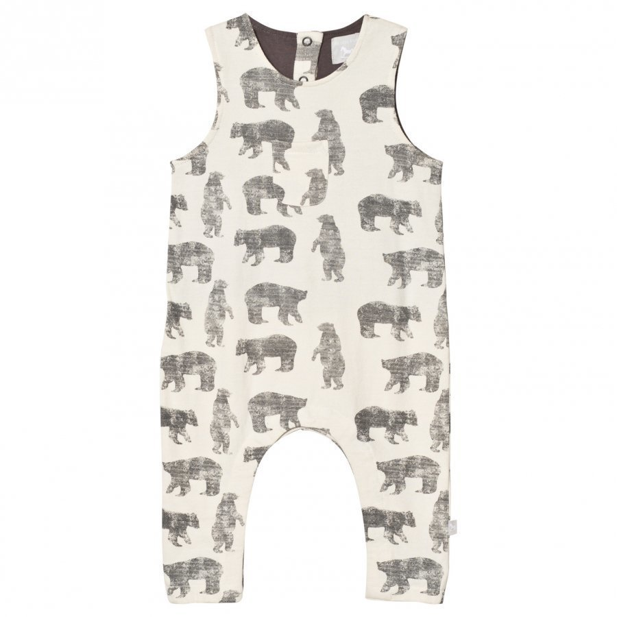 The Little Tailor Cream Bear Baby Boys Slouch Dungaree Lappuhaalari