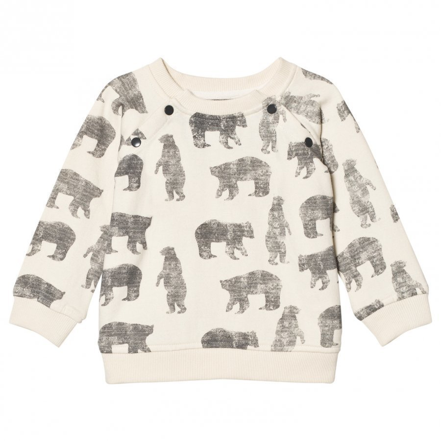 The Little Tailor Cream Bear Baby Boys Sweat Top Oloasun Paita