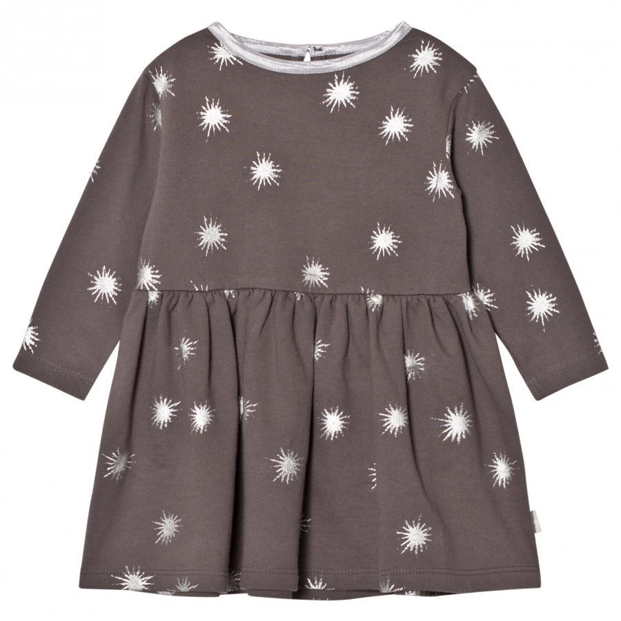 The Little Tailor Dark Grey Baby Girls Jersey Dress Mekko