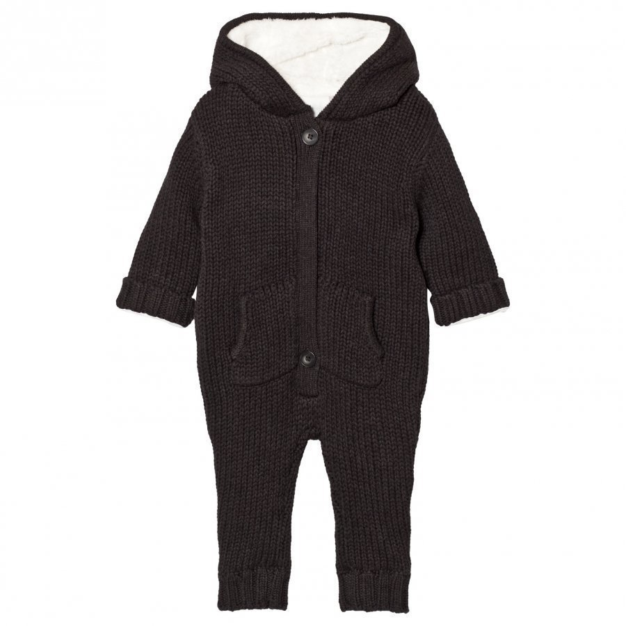 The Little Tailor Dark Grey Chunky Knit Day Suit Kokopuku