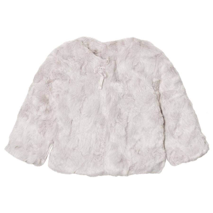 The Little Tailor Grey Girls Faux Fur Jacket Turkis