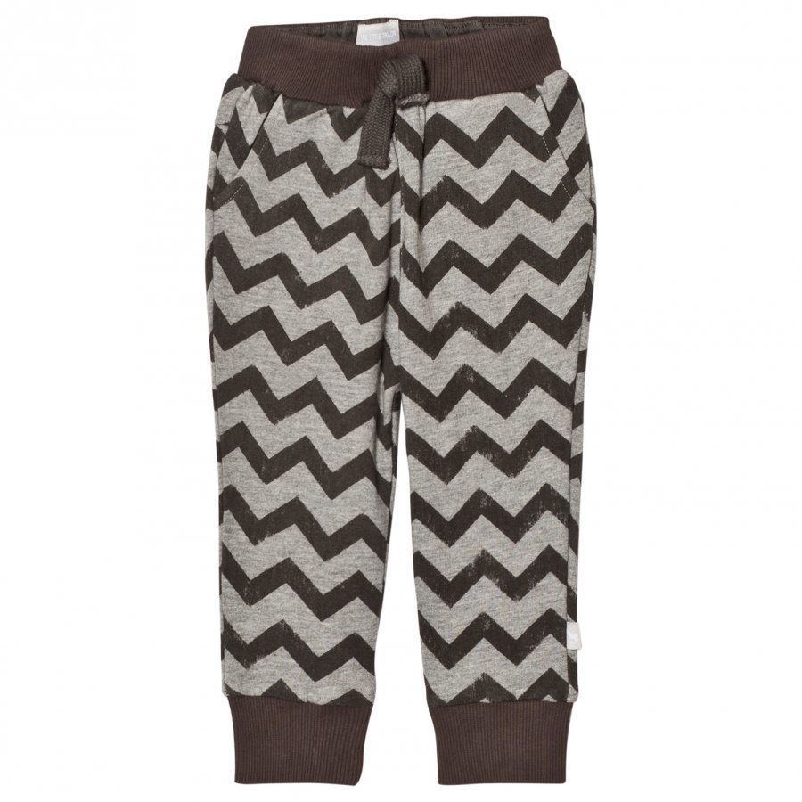 The Little Tailor Grey Zigzag Baby Boys Comfy Pant Harem Housut