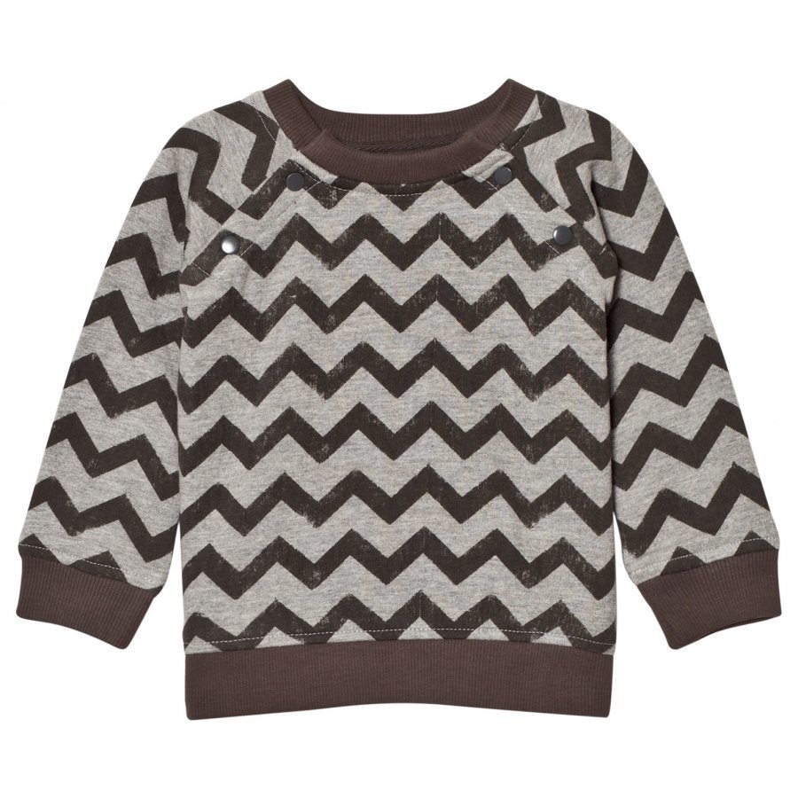 The Little Tailor Grey Zigzag Baby Boys Sweat Top Oloasun Paita