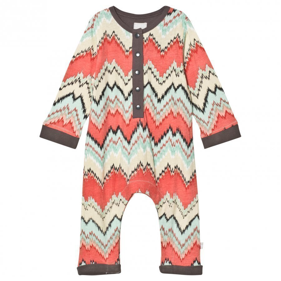 The Little Tailor Multi Zigzag Baby Boys Comfy Playsuit Potkupuku