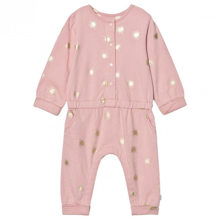 The Little Tailor Pink Baby Girls Comfy Playsuit Potkupuku