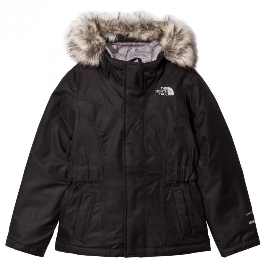 The North Face Black Greenland Down Fur Hooded Jacket Toppatakki