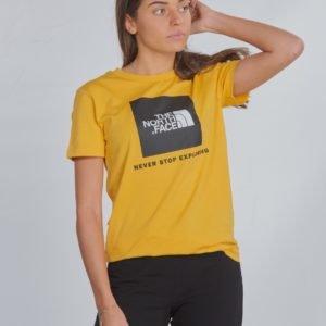 The North Face Box S/S Tee T-Paita Keltainen