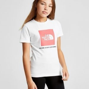 The North Face Girls' Easy Box T-Shirt Valkoinen