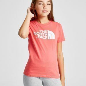 The North Face Girls' Easy T-Shirt Vaaleanpunainen