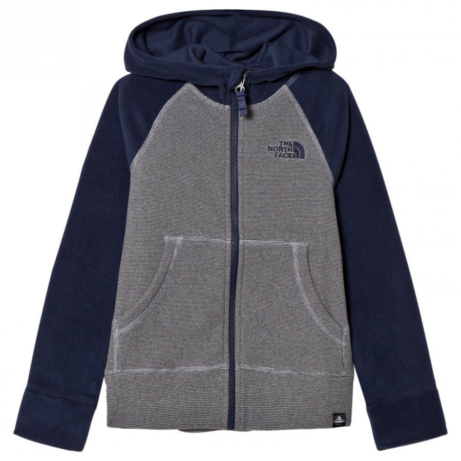 The North Face Grey And Navy Raglan Style Glacier Full Zip Hoodie Huppari