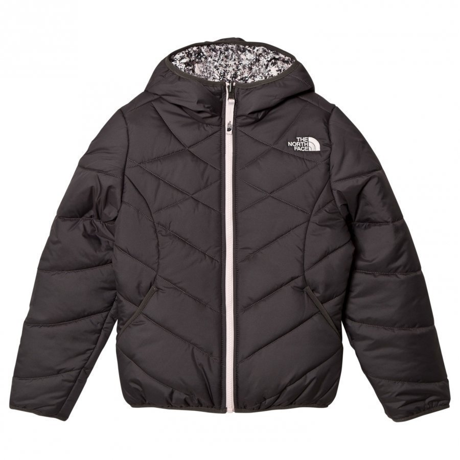The North Face Grey Patterned Reversible Perrito Jacket Toppatakki