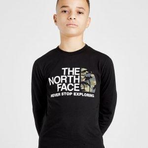 The North Face Long Sleeve Camo T-Paita Musta
