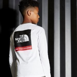 The North Face Simple Dome Long Sleeve T-Paita Valkoinen