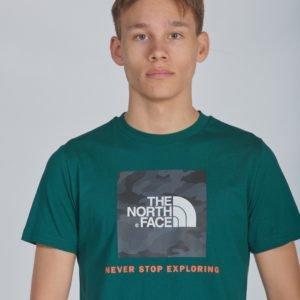 The North Face Y Box S/S Tee T-Paita Vihreä
