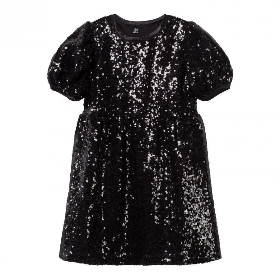 The Tiny Universe The Tiny Shimmer Dress All Black Mekko