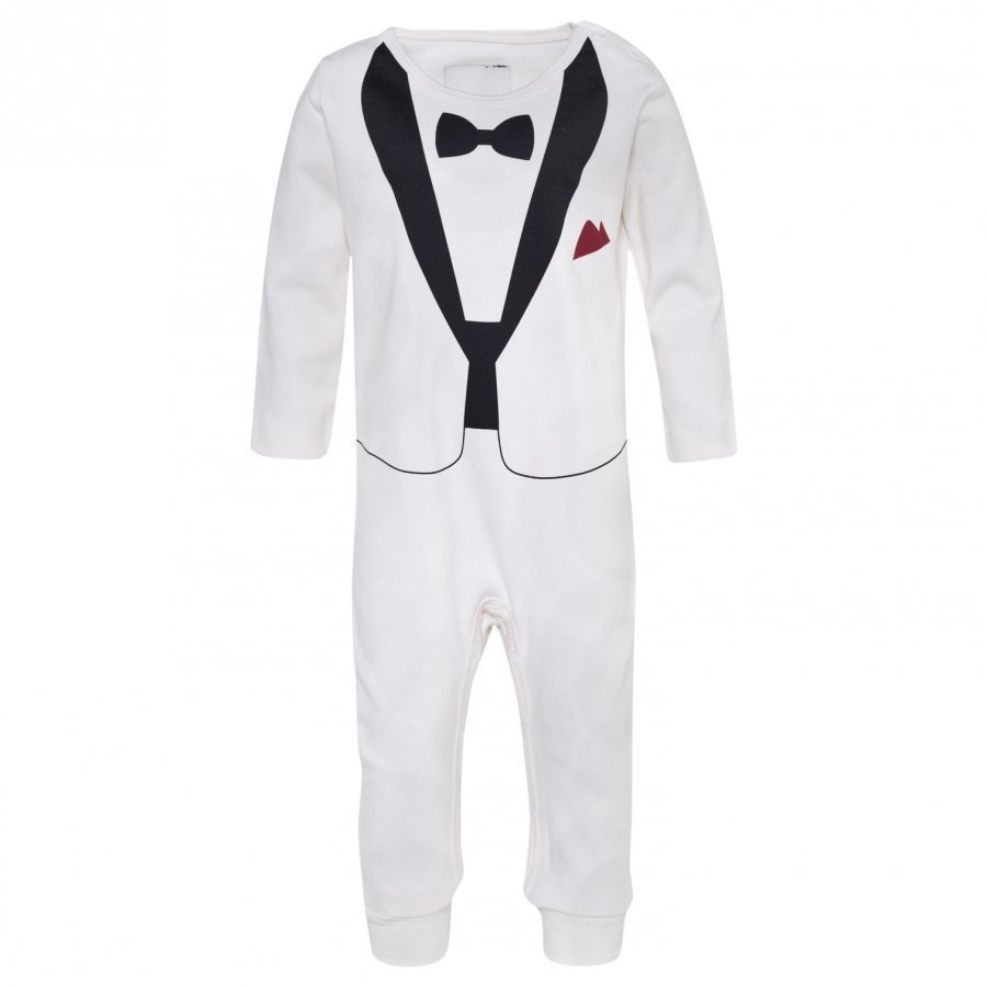 The Tiny Universe The Tiny Tux Romper Ivory Body