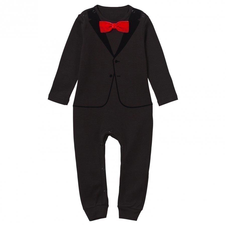 The Tiny Universe The Velvet Tuxedo Black/Red Bow Body