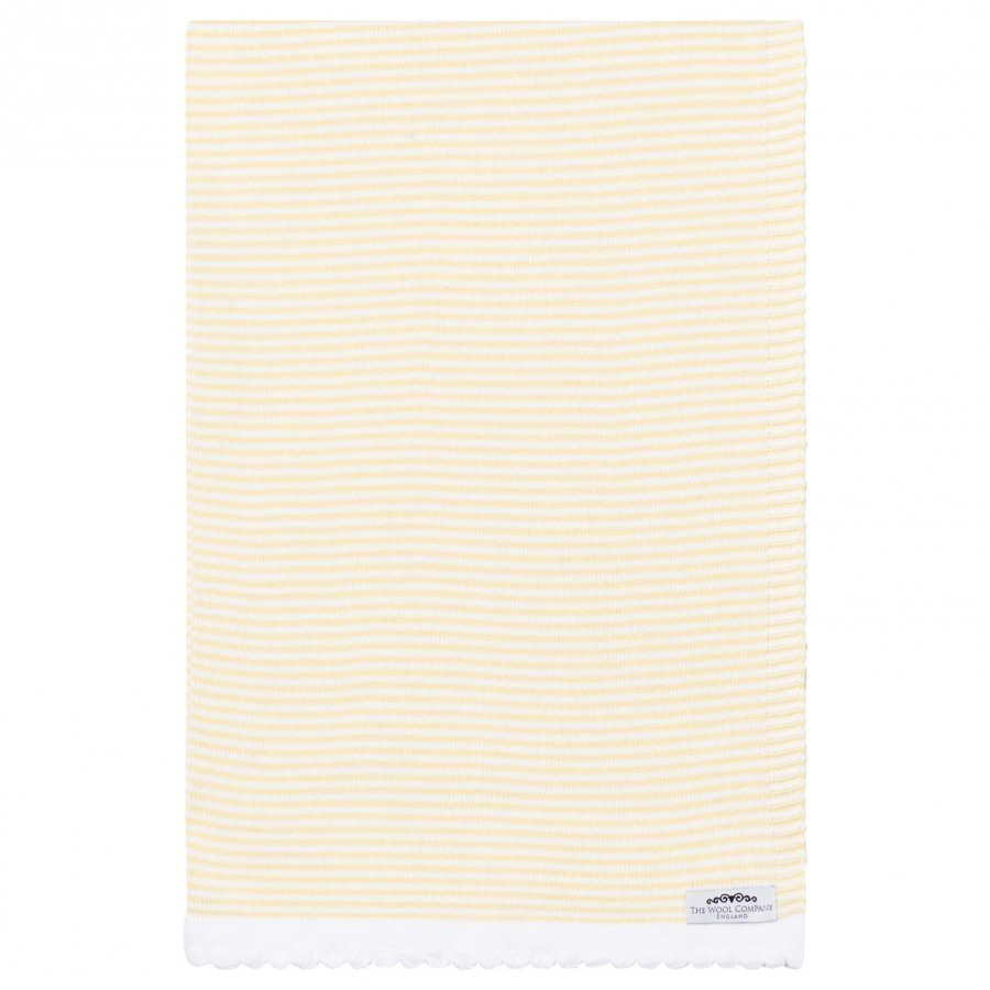 The Wool Company Lemon Stripe Blanket Huopa
