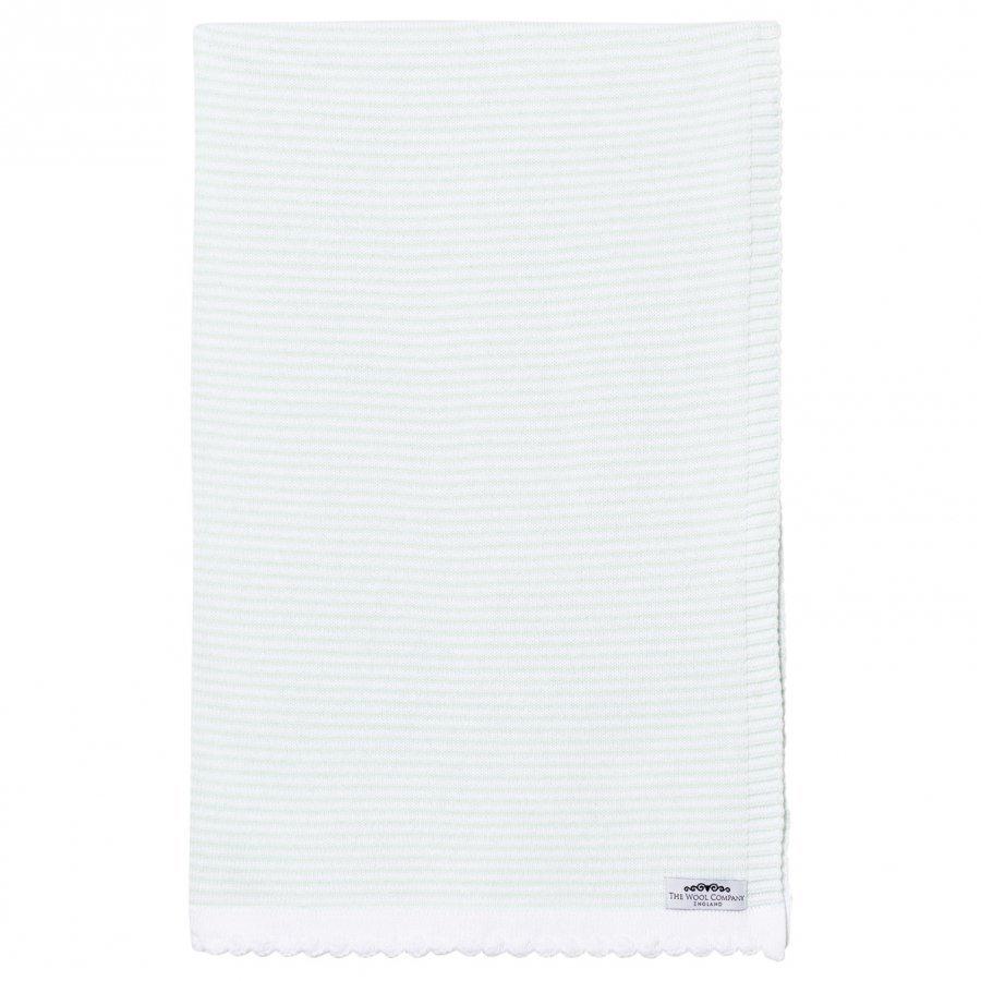 The Wool Company Mint Stripe Blanket Huopa