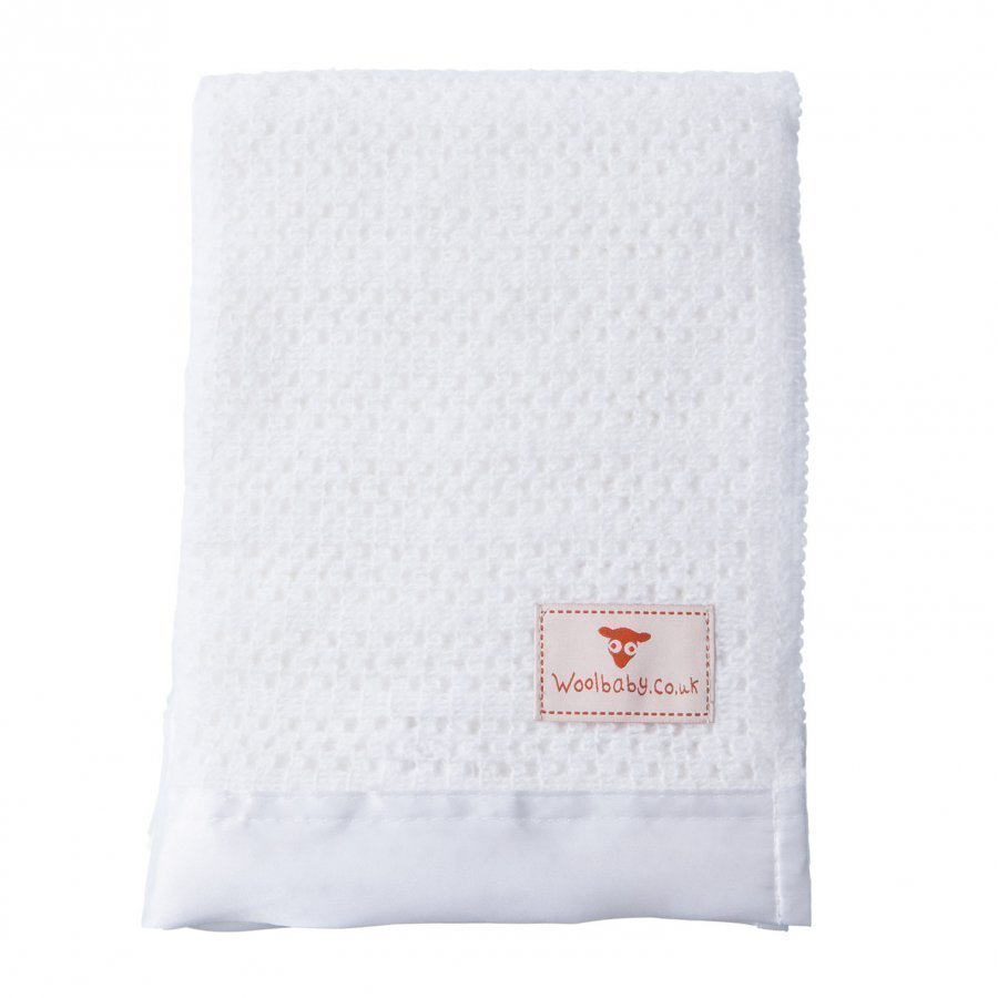 The Wool Company Satin Trimmed Cot Blanket Huopa