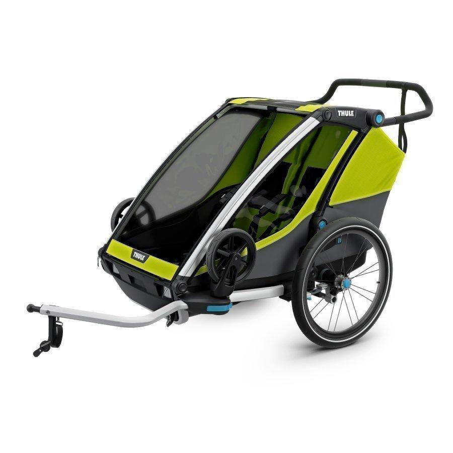 Thule Chariot Cab 2 Pyöräilyvaunu Chartreuse