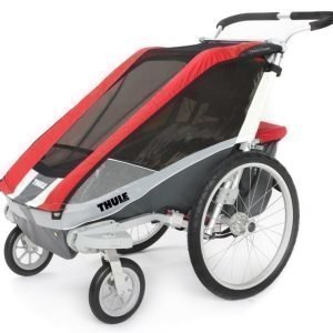 Thule Chariot/Cougar 1 Multirattaat Red + Strolling Kit Paketti