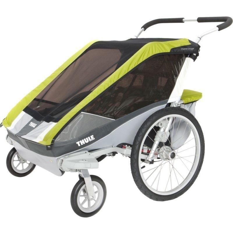 Thule Chariot/Cougar 2 Multirattaat kahdelle lapselle Avocado + Strolling Kit Paketti
