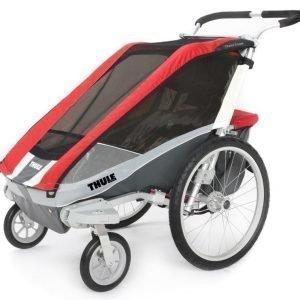 Thule Chariot/Cougar 2 Multirattaat kahdelle lapselle Red + Strolling Kit Paketti