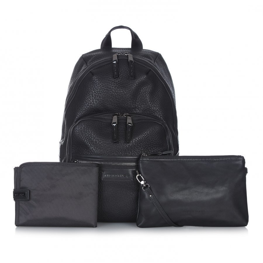 Tiba + Marl Black Elwood Backpack Changing Bag Hoitolaukku