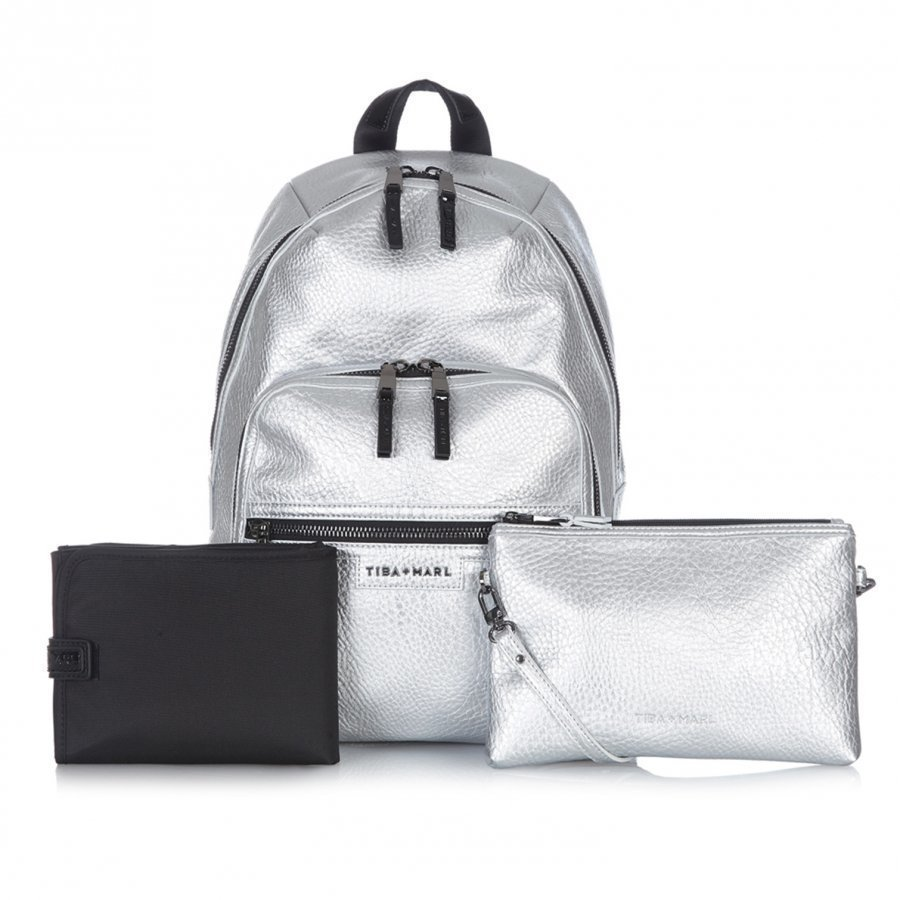 Tiba + Marl Elwood Backpack Silver Hoitolaukku