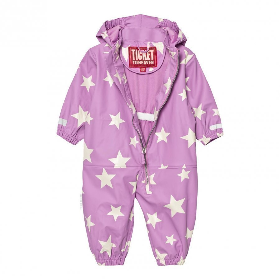 Ticket To Heaven Rain Suit Kody Authentic Rubber Allover Violet Rose Sadehaalari