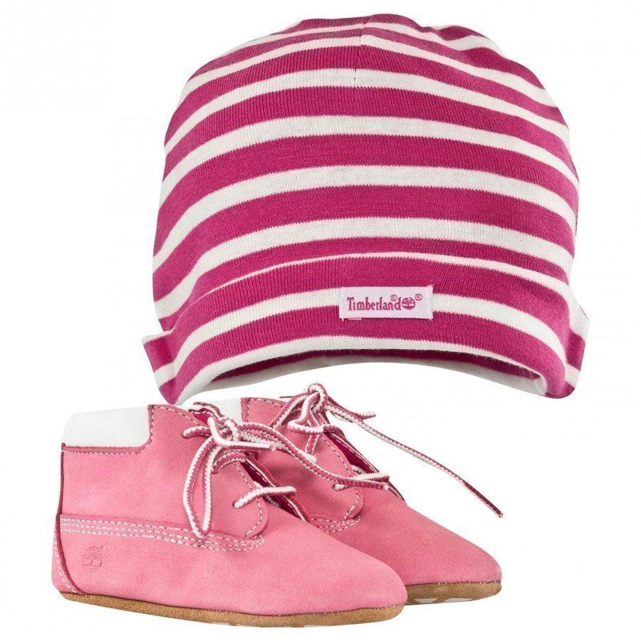 Timberland Crib Bootie With Hat Pink Vauvan Tossut
