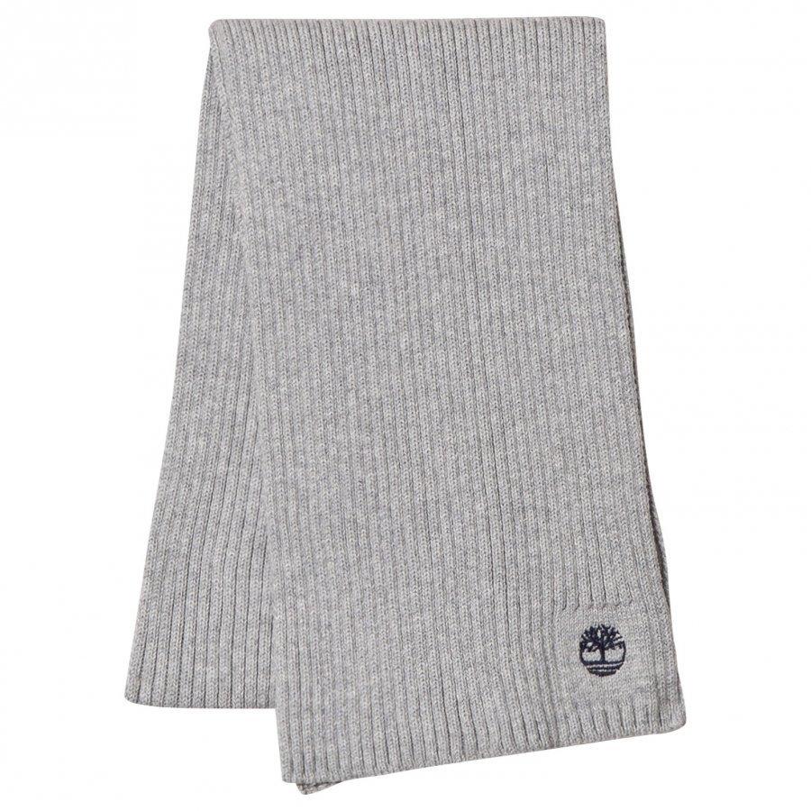 Timberland Grey Branded Knit Scarf Villahuivi