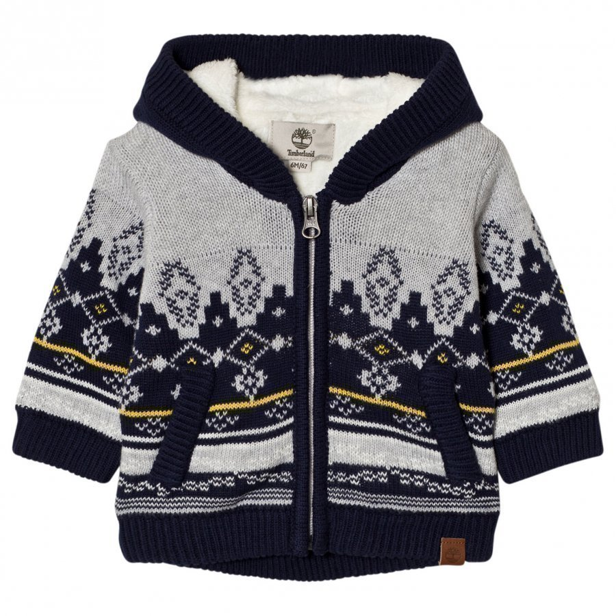 Timberland Grey Fairisle Knit Hoody Huppari