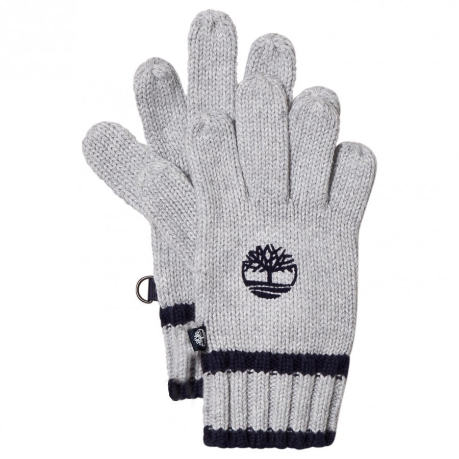 Timberland Grey Knit Branded Gloves Villahanskat