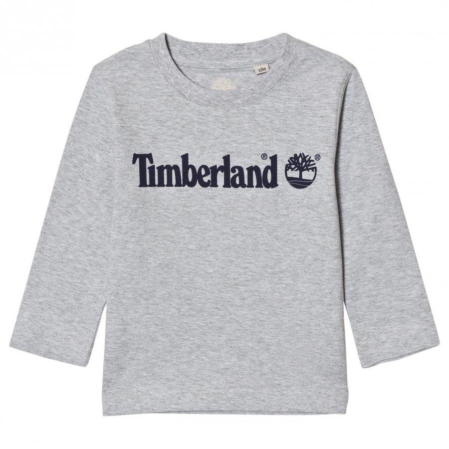 Timberland Grey Script Logo Tee T-Paita