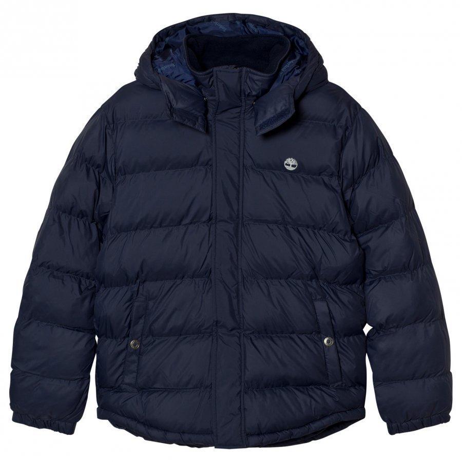 Timberland Hooded Puffer Jacket Navy Toppatakki