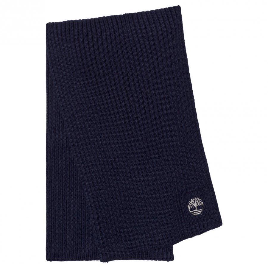 Timberland Navy Branded Knit Scarf Villahuivi