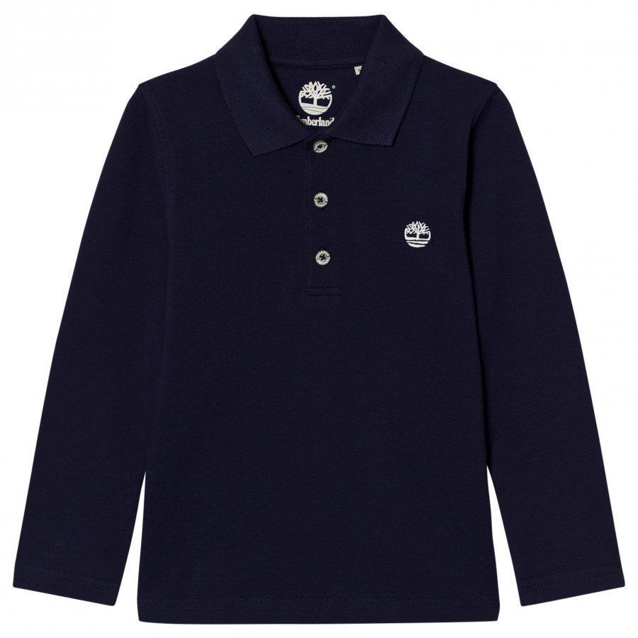 Timberland Navy Branded Polo T-Paita