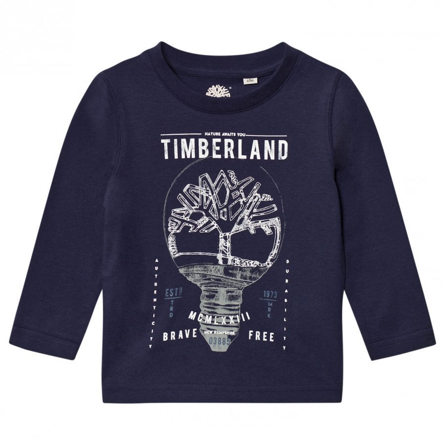 Timberland Navy Branded Tee T-Paita